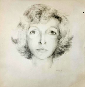 Martha Gellhorn, by Bernard Perlin (1958)
